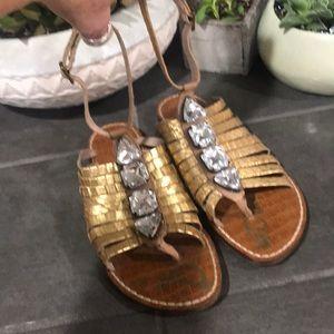 Shoes - Sam Edelman gold blinging sandals